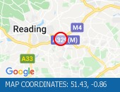 Traffic Location - 51.43,-0.86