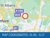 Traffic Location - 51.69,-0.17