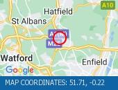 Traffic Location - 51.71,-0.22