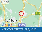 Traffic Location - 51.8,-0.23