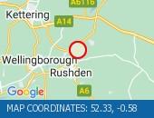 Traffic Location - 52.33,-0.58