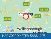 Traffic Location - 52.38,-0.73