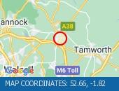 Traffic Location - 52.66,-1.82