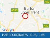 Traffic Location - 52.78,-1.68