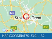 Traffic Location - 53.01,-2.2