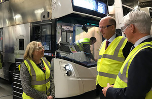 Transport Secretary visits leading manufacturers in Northern Ireland